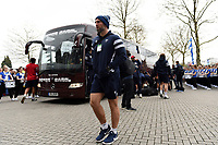 John Muldoon and the rest of the Bristol Bears team arrive at Twickenham Stadium. Gallagher Premiership match, The Clash, between Bath Rugby and Bristol Rugby on April 6, 2019 at Twickenham Stadium in London, England. Photo by: Patrick Khachfe / Onside Images
