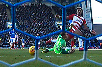 Mallik Wilks of Doncaster Rovers scores the first goal  during Portsmouth vs Doncaster Rovers, Sky Bet EFL League 1 Football at Fratton Park on 2nd February 2019