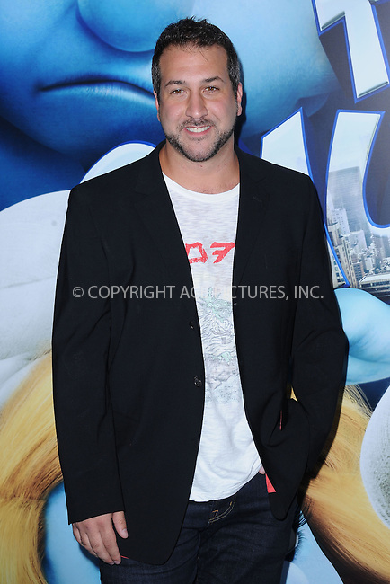 WWW.ACEPIXS.COM . . . . . .July 24, 2011...New York City....Joey Fatone attends the premiere of 'The Smurfs' at the Ziegfeld Theater on July 24, 2011 in New York City....Please byline: KRISTIN CALLAHAN - ACEPIXS.COM.. . . . . . ..Ace Pictures, Inc: ..tel: (212) 243 8787 or (646) 769 0430..e-mail: info@acepixs.com..web: http://www.acepixs.com .