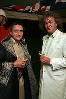 Top Gear presenters Richard Hammond and James May at The Goodwood Revival Ball, Sussex, England