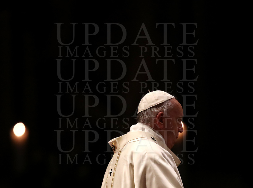 Pope Francis celebrates a Mass for World Day for Consecrated Life in St. Peter's Basilica at the Vatican, on February 1, 2020.<br /> UPDATE IMAGES PRESS/Isabella Bonotto<br /> <br /> STRICTLY ONLY FOR EDITORIAL USE
