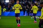 FC Barcelona's midfield Frenkie de Jong warms up before La Liga match. Mar 01, 2020. (ALTERPHOTOS/Manu R.B.)