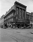 Pittsburgh PA:  View of the corner of Diamond and Wood Streets - 1936.  Founded in 1832 in a log cabin, John M. Roberts & Son Co. moved to Wood and Diamond streets in 1925. Mr. Roberts was the fourth generation of his family to work in the business. Owners often said it was the oldest emporium in Pittsburgh, the first to use lighting in its display windows, and proudly boasted of customers such as George Westinghouse, railroad financier and philanthropist Diamond Jim Brady, singer Lillian Russell and pianist Liberace.<br />
