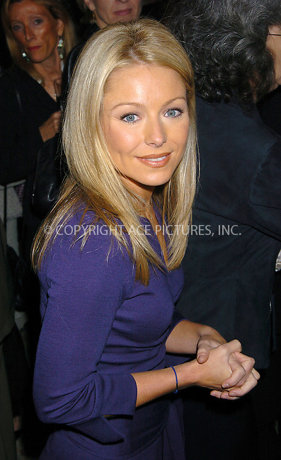 WWW.ACEPIXS.COM . . . . .  ....NEW YORK, OCTOBER 26, 2004....Kelly Ripa attends the 16th Annual Women of the Year Luncheon at The Pierre in NYC.....Please byline: AJ Sokalner - ACE PICTURES..... *** ***..Ace Pictures, Inc:  ..Alecsey Boldeskul (646) 267-6913 ..Philip Vaughan (646) 769-0430..e-mail: info@acepixs.com..web: http://www.acepixs.com