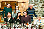 Engagement Party: Carolyn Reynols & Sean O'Mahony, Listowel pictured at Behan's Horseshoe restaurant on the occasion of their engagement. Front : Margaret O'Mahony,  Carolyn Reynolds,  Sean O'Mahony & John D. O'mahony. Back : Mike O'mahony, Suzanne Hennessy & Mike O'Mahony, Snr.