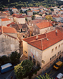CROATIA, Korcula, Dalmatian Coast, high angle view of residential structure in Korcula.