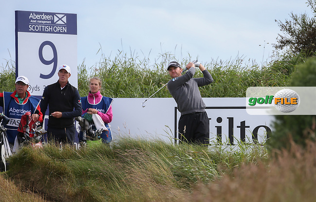 Michael Hoey (NIR) during Round One of the 2016 Aberdeen Asset Management Scottish Open, played at Castle Stuart Golf Club, Inverness, Scotland. 07/07/2016. Picture: David Lloyd | Golffile.<br /> <br /> All photos usage must carry mandatory copyright credit (&copy; Golffile | David Lloyd)