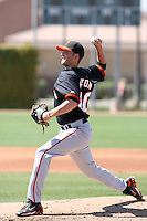 Chris Heston, San Francisco Giants minor league spring training..Photo by:  Bill Mitchell/Four Seam Images.