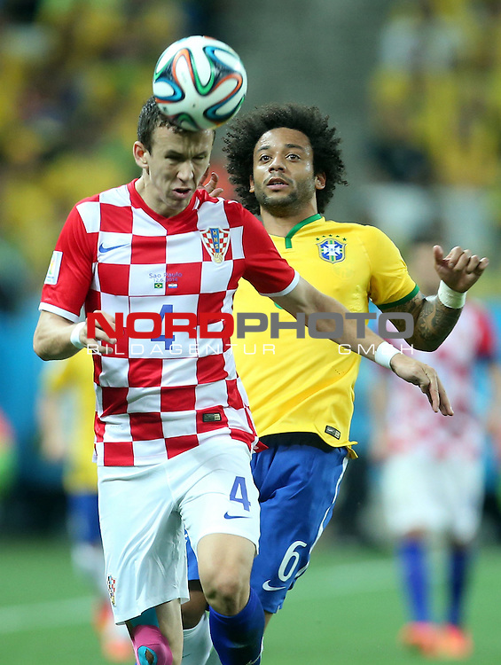 2014 Fifa World Cup opening game from group A against Brazil and Croatia.<br /> Ivan Perisic, Marcelo<br /> <br /> Foto &copy;  nph / PIXSELL / Sajin Strukic