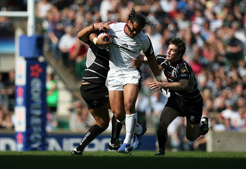 Photo: Rich Eaton...Ospreys v Leicester Tigers. EDF Energy Cup Final. 15/04/2007. Leicester Tigers Alesana Tuilagi centre makes a break