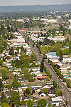 Aerial view of the Parkrose neighborhood in Portland, OR.