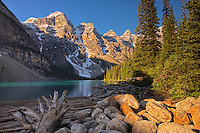Moraine Lake and the Canadian Rocky Mountains<br /> Banff National Park<br /> Alberta<br /> Canada