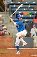 Nam-Seok Kim #6 of Team Korea at bat against Team USA at Durham Bulls Athletic Park July 18, 2010, in Durham, North Carolina.  Photo by Brian Westerholt / Four Seam Images