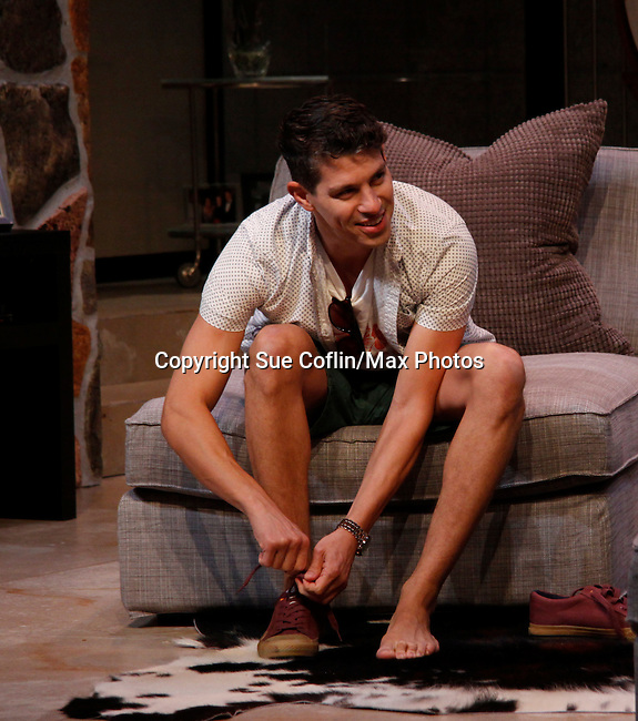 """Davy Raphaely stars in """"Other Desert Cities"""" at the tech rehearsal (in costume) on October 14, 2015 at Whippoorwill Halll Theatre, North Castle Library, Kent Place, Armonk, New York.  (Photo by Sue Coflin/Max Photos)"""