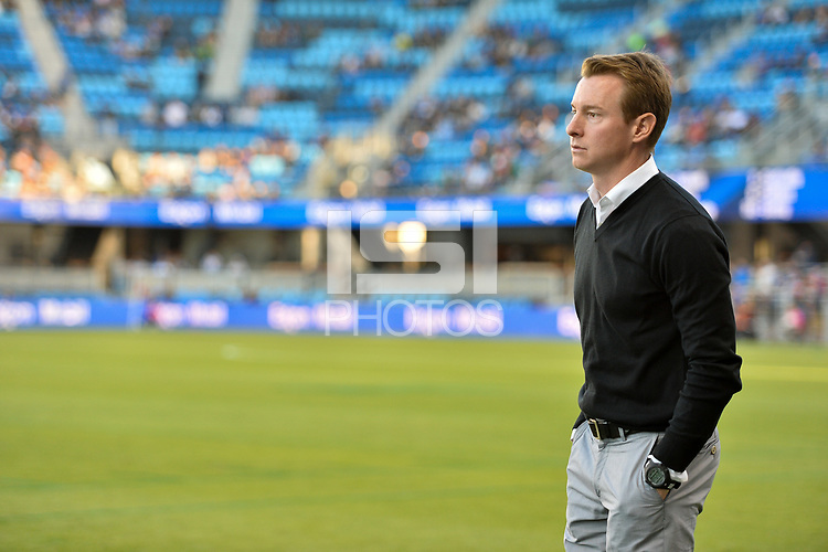 San Jose, CA - Wednesday June 28, 2017: Chris Leitch during a U.S. Open Cup Round of 16 match between the San Jose Earthquakes and the Seattle Sounders FC at Avaya Stadium.