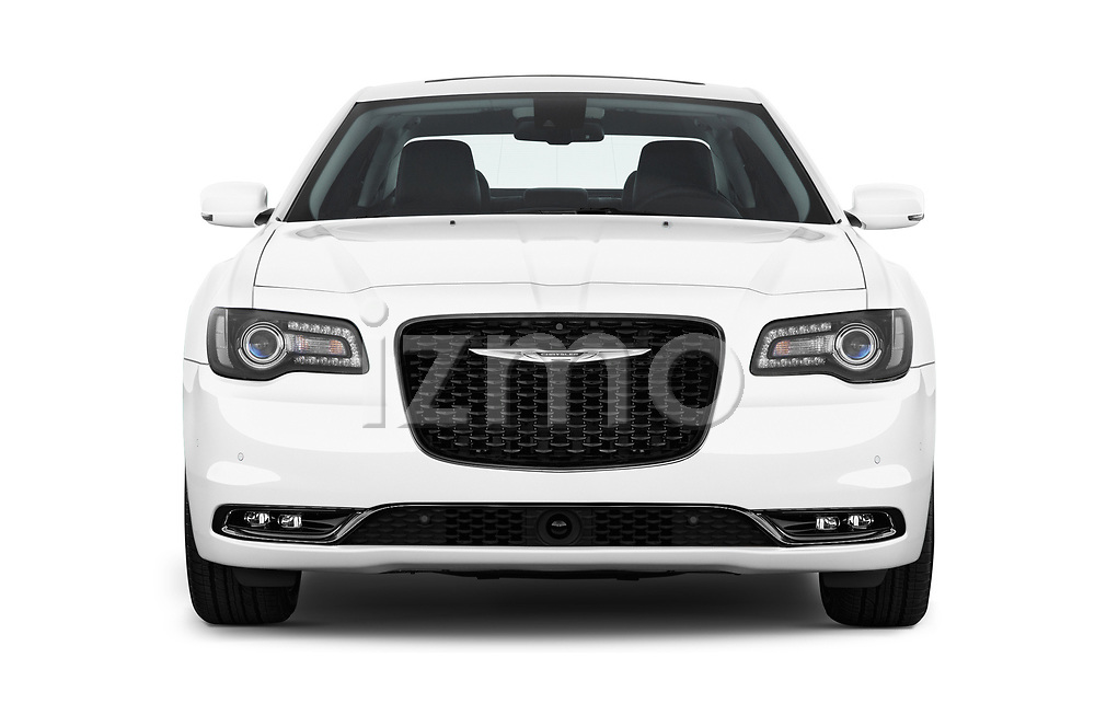 Car photography straight front view of a 2019 Chrysler 300 S 4 Door Sedan