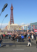 09/03/2019  Blackpool Supporters gather outside Blackpool Tower in preparation of The Homecoming march to Bloomfield Road, many after a self imposed exile of four years
