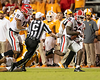 KNOXVILLE, TN - OCTOBER 5:  during a game between University of Georgia Bulldogs and University of Tennessee Volunteers at Neyland Stadium on October 5, 2019 in Knoxville, Tennessee.