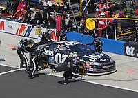 Apr 29, 2007; Talladega, AL, USA; Nascar Nextel Cup Series driver Clint Bowyer (07) pits during the Aarons 499 at Talladega Superspeedway. Mandatory Credit: Mark J. Rebilas