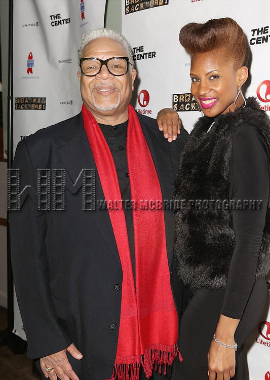"Ken Page and Chondra Profit attends the ""Broadway Backwards"" After Party Reception  at John's Restaurant on March 24, 2014 in New York City."