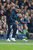 30th September 2017, The Hawthorns, West Bromwich, England; EPL Premier League football, West Bromwich Albion versus Watford; Tony Pulis Manager of West Bromwich Albion shouts instructions to his players