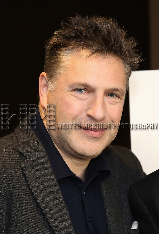 "Patrick Marber attends the ""Travesties"" Meets The Press on March 6, 2018 at the Roundabout Theatre in New York City."