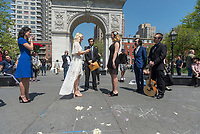 New York, USA 28 April 2017 - Same sex marriage ona warm Springtime day in Washington Square Park ©Stacy Walsh Rosenstock