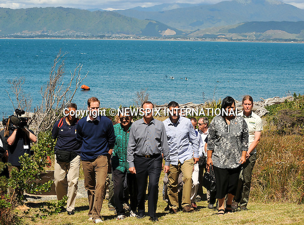 """PRINCE WILLIAM.Prince William accompanied by the Prime Minister John Key visited a Nature Reserve located on Kapiti Island, which houses some of the world's most endangered birds.The Prince was once again meet with a traditional Maori Hongi. William also held a Kiwi bird, meet some traveling students and listened to a talk about the Islands activities_ Kapiti Island, Kapiti Coast, New Zealand_18/01/2010 .Mandatory Credit Photo: ©DIAS-NEWSPIX INTERNATIONAL..**ALL FEES PAYABLE TO: """"NEWSPIX INTERNATIONAL""""**..IMMEDIATE CONFIRMATION OF USAGE REQUIRED:.Newspix International, 31 Chinnery Hill, Bishop's Stortford, ENGLAND CM23 3PS.Tel:+441279 324672  ; Fax: +441279656877.Mobile:  07775681153.e-mail: info@newspixinternational.co.uk"""