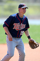 March 18, 2010:  Third Baseman Matt Gaski (19) of the Minnesota Twins organization during Spring Training at the Ft. Myers Training Complex in Ft. Myers, FL.  Photo By Mike Janes/Four Seam Images