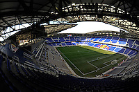The interior of Red Bull Arena prior to a friendly between Sanots FC and the New York Red Bulls at Red Bull Arena in Harrison, NJ, on March 20, 2010.