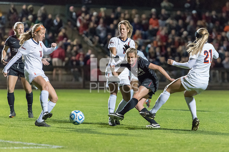 November 15, 2013: Alex Doll during the Stanford vs Cal State Fullerton NCAA 1st round women's soccer match in Stanford, California.  Stanford won 1-0.