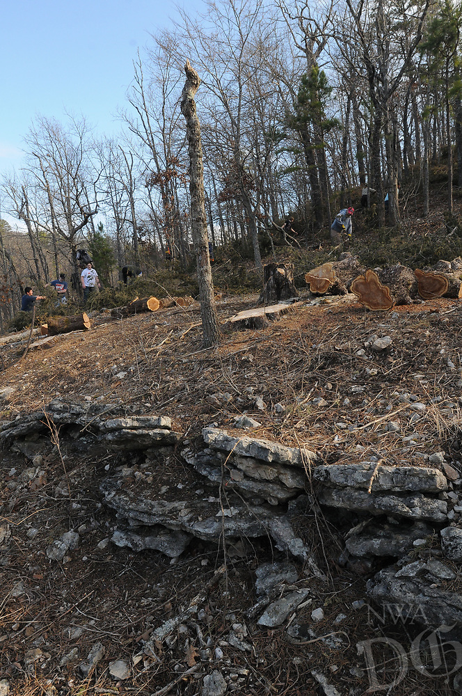 NWA Democrat-Gazette/FLIP PUTTHOFF <br /> Opening the glade on the Shaddox Hollow Trail will      Feb. 18 2017 allow native grass and wildflowers to return.