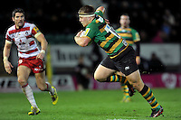 Paul Hill of Northampton Saints goes on the attack. Aviva Premiership match, between Northampton Saints and Gloucester Rugby on November 27, 2015 at Franklin's Gardens in Northampton, England. Photo by: Patrick Khachfe / JMP