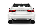 Straight rear view of 2018 Infiniti Q50 LUXE 4 Door Sedan Rear View  stock images