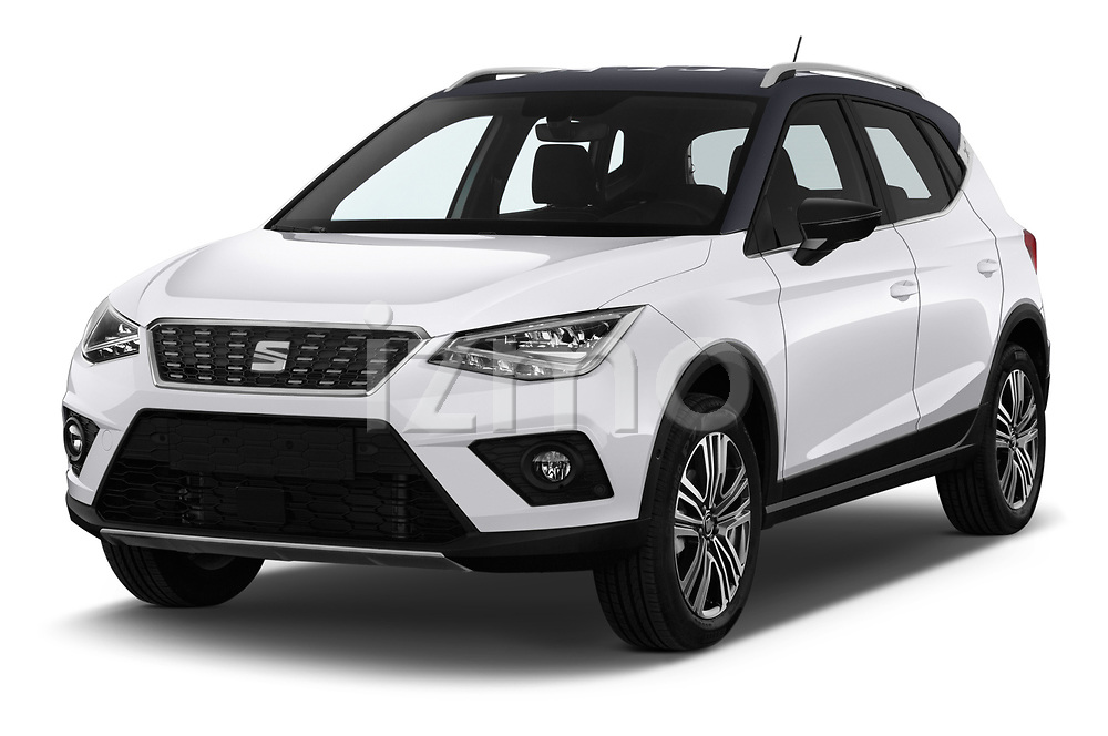 2018 Seat Arona Xcellence 5 Door SUV angular front stock photos of front three quarter view