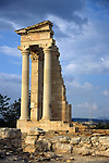 Europe, Mediterranean, Cyprus, Limassol, Kourion. The Sacred Temple of Apollo Hylates.