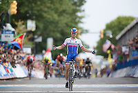 Peter Sagan (SVK/Tinkoff-Saxo) is the 2015 World Champion!<br /> <br /> Elite Men Road Race<br /> UCI Road World Championships Richmond 2015 / USA