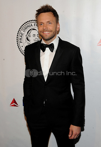 New York, NY- October 7:Joel McHale attends the Friars Foundation Gala honoring Robert De Niro and Carlos Slim at the Waldorf-Astoria on October 7, 2014 in New York City. Credit: John Palmer/MediaPunch
