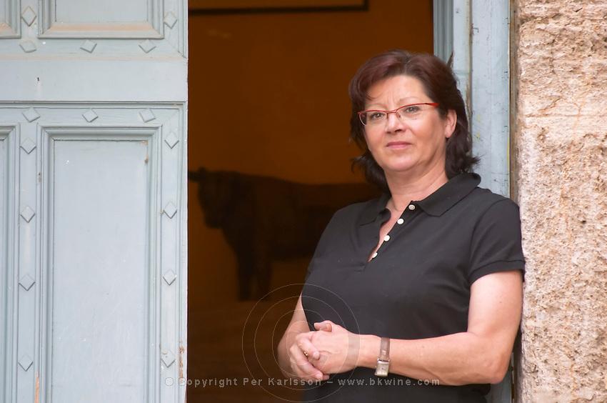 Chantal Lecouty Prieure de St Jean de Bebian. Pezenas region. Languedoc. The villa. A door. ex-Owner winemaker. France. Europe.
