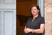 Chantal Lecouty Prieure de St Jean de Bebian. Pezenas region. Languedoc. The villa. A door. ex-Owner winemaker. France. Europe.