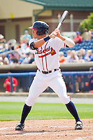 Hilton Richardson #15 of the Rome Braves at bat against the Hagerstown Suns at State Mutual Stadium on May 2, 2011 in Rome, Georgia.   Photo by Brian Westerholt / Four Seam Images