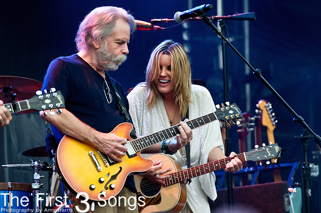 Grace Potter of Grace Potter and the Nocturnals performs with Bob Weir during the All Good Music Festival at Legend Valley in Thornville, Ohio.