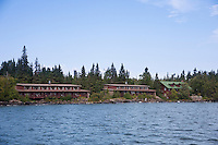 The Rock Harbor Lodge offers accomodations at Rock Harbor at Isle Royale National Park.