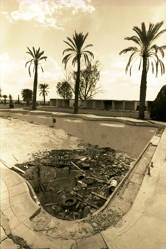 This is an old swimming pool at the former El Rancho Diablo, west of Tucson, near Ryan Field. This is a July 28, 1976 file photo.