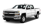 2018 Chevrolet Silverado-1500 LT-Crew 4 Door Pick-up Angular Front stock photos of front three quarter view