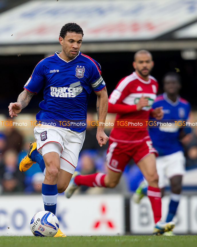 Carlos Edwards, Ipswich Town FC lays the ball wide to set up an attack - Ipswich Town vs Middlesbrough - NPower Championship Football at Portman Road, Ipswich, Suffolk - 02/02/13 - MANDATORY CREDIT: Ray Lawrence/TGSPHOTO - Self billing applies where appropriate - 0845 094 6026 - contact@tgsphoto.co.uk - NO UNPAID USE.