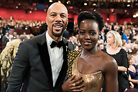 Common and Lupita Nyong'o at The 90th Oscars&reg; at the Dolby&reg; Theatre in Hollywood, CA on Sunday, March 4, 2018.<br /> *Editorial Use Only*<br /> CAP/PLF/AMPAS<br /> Supplied by Capital Pictures