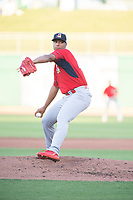 Springfield Cardinals pitcher Johan Oviedo (44) delivers a pitch on May 16, 2019, at Arvest Ballpark in Springdale, Arkansas. (Jason Ivester/Four Seam Images)