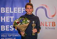 Wateringen, The Netherlands, December 8,  2019, De Rhijenhof , NOJK juniors 14 and18 years, Finals 18 years: Runner up boys 18 years Stein Pel (NED) <br /> Photo: www.tennisimages.com/Henk Koster