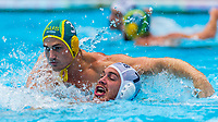 27-07-2019: WK waterpolo: Serbia v Australia: Gwangju<br /> #3 FORD George (AUS) and #7 VICO Nemanja (SRB)<br /> Gwangju South Korea 27/07/2019<br /> Waterpolo M46 SRB - AUS<br /> 18th FINA World Aquatics Championships<br /> Nambu University Grounds <br /> Orange Pictures / Deepbluemedia / Insidefoto